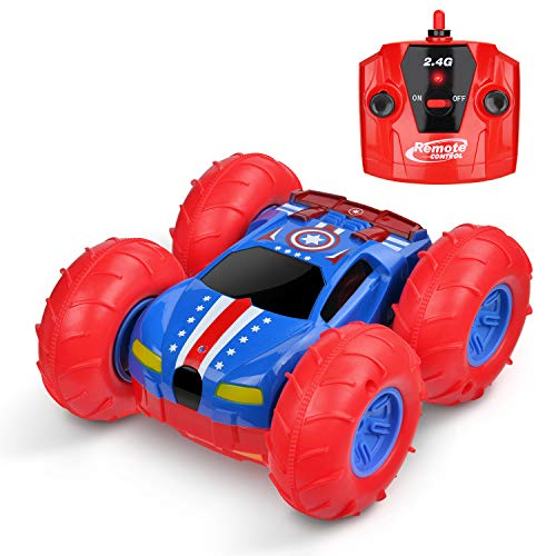 WLOVETRAVEL Kids Remote Control Car Toys,Double Sided Rotating Tumbling Transformation 360 Degree Flips with Radio Controlled,Toy for Age 6 7 8 9 10+ years old boys girls