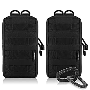51dJbZ1LsxL. SS300  - AIRSSON Tactical Pouch Molle EDC Bag Compact Water- Resistant Utility Gadget Hanging Waist Pouch Saddlebag for Outdoor…