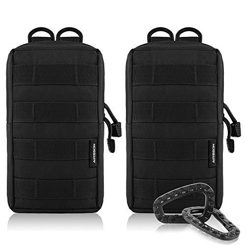 Airsson 2-Stück Molle Taschen Tactical Beutel Pouches Satteltaschen Wanderausrüstung -