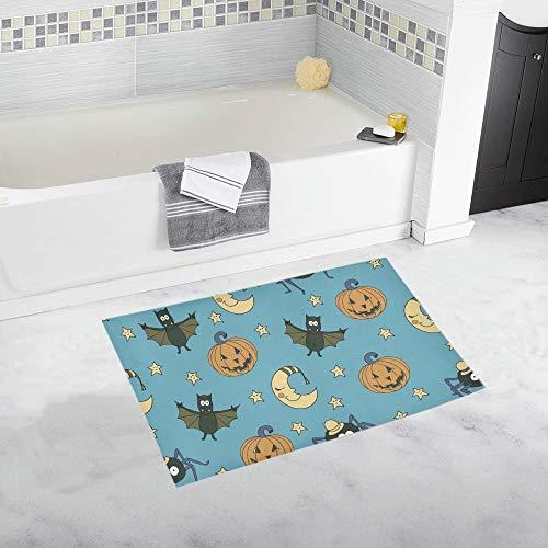 ZHANGhome Fantastische ungewöhnliche Halloween Kürbisse benutzerdefinierte rutschfeste Badematte Teppich Bad Fußmatte Boden Teppich für Badezimmer 20 X 32 Zoll