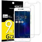 NEW'C Verre Trempé pour ASUS ZenFone 3 Max (ZC520TL),[Pack de 2] Film Protection écran - Anti Rayures - sans Bulles d'air -Ultra Résistant (0,33mm HD Ultra Transparent) Dureté 9H Glass