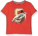 s.Oliver Jungen T-Shirt Kurzarm, Rot (Red Melange 30W6) 128 (Herstellergröße: 128/134/REG)