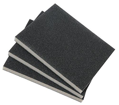 kwb 3-tlg. Schleifschwamm-Set mit feiner, mittlerer & grober Körnung für Holz und Metall - Schleif-Papier trocken und nass einsetzbar
