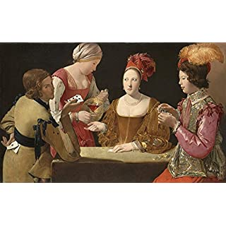 Spiffing Prints Georges de La Tour The Cheat with the Ace of Clubs Vintage Fine Art Print - Medium Vintage Wall Art Poster Picture Giclee Artwork Modern Contemporary & Fine Art Print