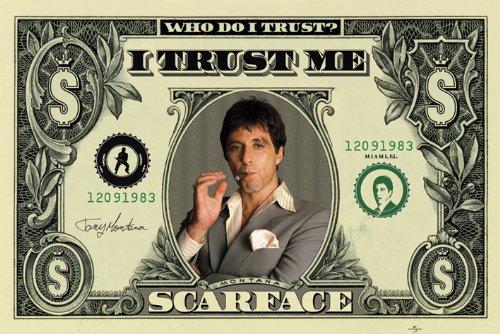 Pyramid International Scarface Dollar Maxi Poster