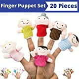 BETTERLINE Finger Puppets Set (20 Pieces) Family Finger Puppet 6 Pieces Animal Finger Pet 14 Pieces Pit Ideal For Talks, Dramas, Teaching Materials And Play Better Line