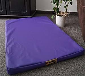 matelas pour chien luminosa en similicuir 120 cm x 80 cm lavende animalerie. Black Bedroom Furniture Sets. Home Design Ideas