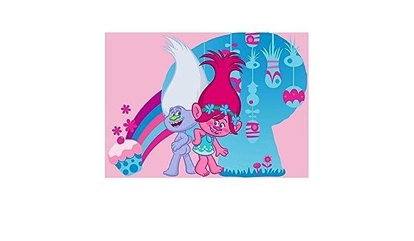 Children Rug The Trolls 133 x 95 cm Carpet Disney Super Cool Poppy