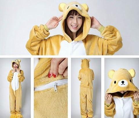 Rilakkuma Costume Pajama - Unisexe cosplay animaux Totoro Pikachu Dinosaur Stitch