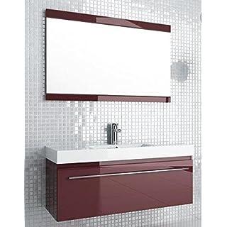 AQUAFORM Badmöbelanlage Decora, schwarz, 120 cm mit Waschbecken, Unterschrank, Spiegel und Beleuchtung, 0400-542911Z