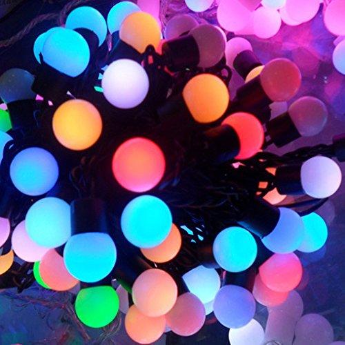 Salcar luci colorate a LED di 5 metri 50 palline per la decorazione delle feste nataliziele (RGB)