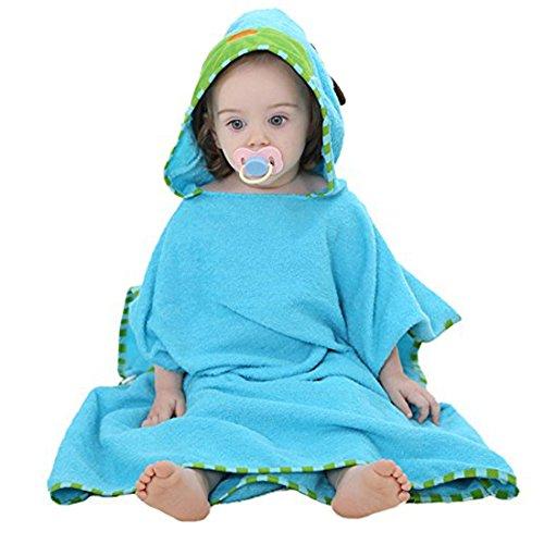 Casa Bambino Asciugamano con Cappuccio - Asciugamano per Bambini , Animale Soffice Asciugamano da Bagno Cotone Accappatoio a poncho