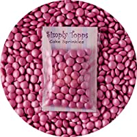 Glimmer Baby Pink Chocolate Beans Sprinkles 30g Cake Cupcake Decorations