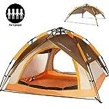 ZOMAKE Tenda Campeggio Automatica 2-3 Persone,Tende da Viaggio Four Seasons per Famiglie (Marrone)