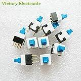 Neue 20PCS/Lot 8X8 8 * 8 mm 6Pin Push taktile Power Micro Switch Self Lock on/off Button Verriegelungs Schalter GroßHandel elektronisch