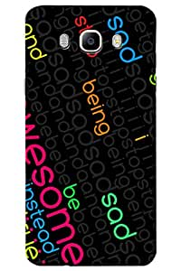 AMAN Awesome Words 3D Back Cover for Samsung Galaxy On8