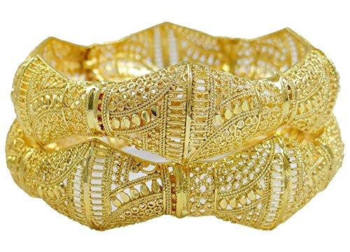 ischen Bollywood Armbänder Goldtone Traditionellen Schmuck Geschenk Für Sie 2 * 8 ()