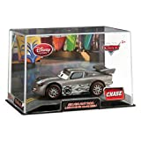 Disney Pixar Cars Exclusive 1:43 Die Cast Car Lightning McQueen Silver Hot Rod 'Chase' (Disneystore...