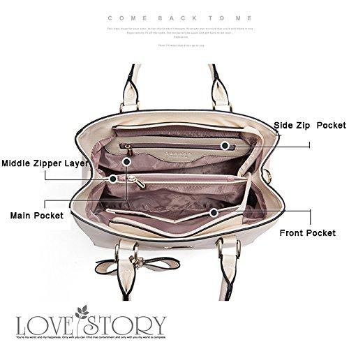 Yoome Top Handle Handbags Borse eleganti grandi per borse portafoglio di fascino per le donne in vendita - rosa Nero