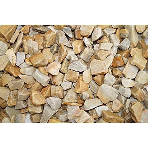 Rockinnature Piedras decorativas para jardín, color dorado, 20kg