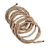 Tookie 5m 2Core 3Core cavo, vintage retro intrecciato filo intrecciato corda intrecciata cavo flessibile per fai da te ciondolo lampada, As Picture Show, 2 cores