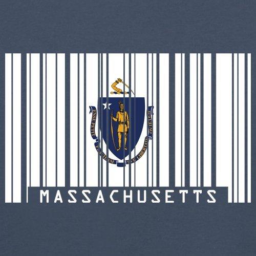 Massachusetts Barcode Flagge - Herren T-Shirt - 13 Farben Navy