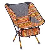 Indischer Campingstuhl Super Light Garden Stuhl Klappbarer Angel Stuhl Heavy Duty 150 Kg Kompakt, Tragbarer Outdoor-Sitz Mit Tote Tasche,Orange