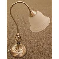 Ct Lighting Lampada Da Tavolo Classica con paralume in vetro alabastro bianco Classico Satin Chrome