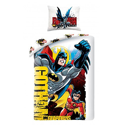 Batman and Robin Gotham Single Duvet Cover Set