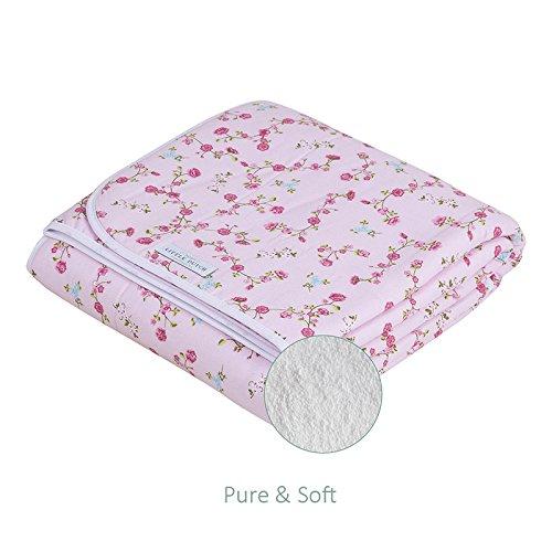 LITTLE DUTCH 1601 Babydecke Pink Blossom pure & soft 70x100 cm (Die Blossom Bettdecke)