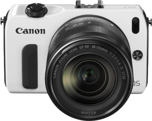 Canon EOS M kompakte Systemkamera (18 Megapixel, 7,6 cm (3 Zoll) Display, Full HD, Touch-Display) Kit inkl. EF-M 18-55mm 1:3,5-5,6 IS STM und Speedlite 90EX weiß