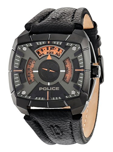 Police Orologio Analogico Quarzo Uomo con Cinturino in Pelle PL14796JSU.02