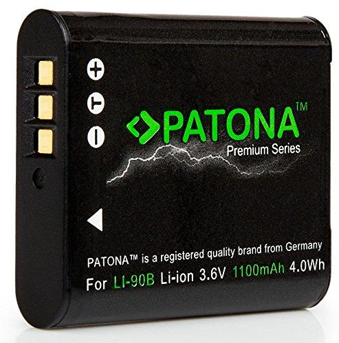 Ein Zeichnen Sp Sie (Bundlestar Patona Premium Akku für Olympus LI-90B Li-92B (echte 1100mAh)  Intelligentes Akkusystem -  kompatibel