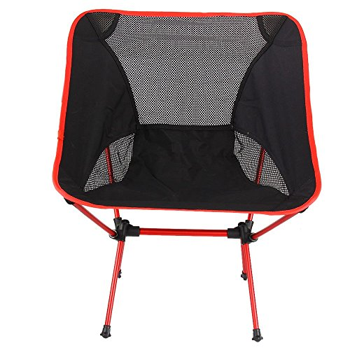 TENGGO Outdoor Portable Falten Chair Camping Hiking Beach Seat Stool Für BBQ Picnic-Rot
