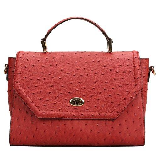 E-Girl Q0448 donna Borse a spalla,Borse a tracolla30x20x12 cm (B x H x T) Red
