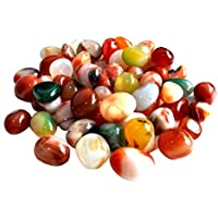 winomo piedras decorativas piedras de río 500g Natural Multicolor Piedras 0.5–1CM pequeño piedras Decoración para Jardín Acuario vías Planta