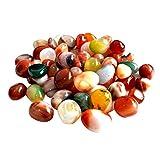 WINOMO Dekosteine Flusskiesel 500g natürliche bunt Steine 0.5-1cm klein Steine Dekoration für Garten Aquarium Wege Pflanze