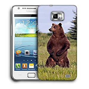 Snoogg Standing Bear Printed Protective Phone Back Case Cover For Samsung Galaxy S2 / S II