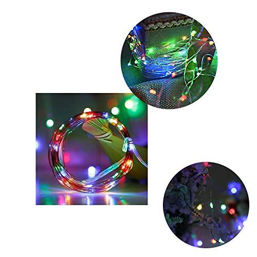 1 Packung RGB-Schnur-Licht 30LED RGB-LED-Fee-Schnur-Lichter auf 10ft Kupferdraht Beleuchtung Batteriebetriebene Schnur-Licht am besten für DIY Dekoration Kostüm Hochzeit Valentines Feiertags-Party-Li (Am Besten Aus Kostüm)