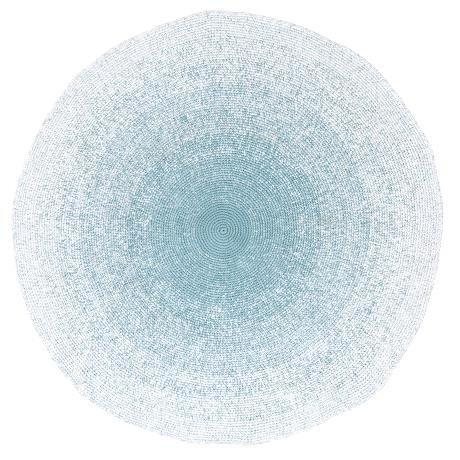 Spiel-platz-matte (Sebra Kinderzimmer Teppich Häkelteppich Kinderteppich Farbverlauf Blau Junge 100% Baumwolle NEU Sebra0216)