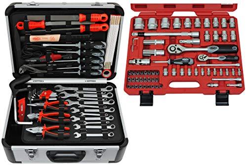FAMEX 729-24 Werkzeugkoffer Komplettset Top Qualität mit 66-teiligem Steckschlüsselsatz