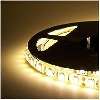 takestop® STRISCIA BOBINA LED 5M STRIP 300 LED SMD 5050 72W BIANCO CALDO AD ALTA LUMINOSITA CASA