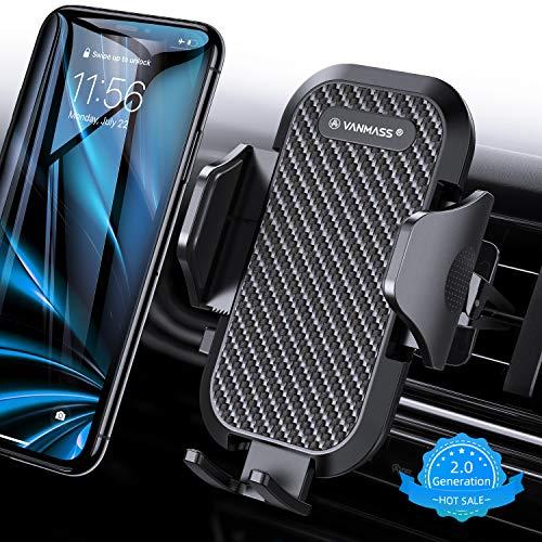 VANMASS Handyhalterung Auto Handyhalter fürs Auto Lüftung Bombenfest Vertikal & Horizontal mit Ausdehnbarer Halterfüße Universal für iPhone Samsung Huawei Oneplus und andere Smartphone [2019 Upgrade]
