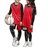 STARINN Kinder Basketball Trikots Set Fußball Uniform Sportbekleidung Atmungsaktiv Bekleidung Trainingsanzüge T-Shirt Basketball Anzug FüR Kinder Junior Mädchen Herren