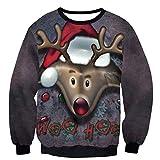 Soupliebe Frauen Weihnachten Langarm Brief Print Sleeve Rundhals Bluse Tops Kapuzen Sweatjacke Kapuzenpullover Hoodie Pullover Sweatshirt