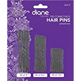 Diane Hair Pins Assorted Size, Black 100 ea (Pack of 2)