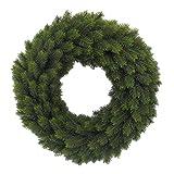 Künstlicher Tannenkranz grün 65cm beidseitig rund