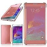 moex Samsung Galaxy Note 4 | Hülle Transparent TPU Void Cover Dünne Schutzhülle Rosé-Gold Handyhülle für Samsung Galaxy Note 4 Case Ultra-Slim Handy-Tasche mit Sicht-Fenster
