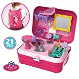 #5: Toyshine Pretend Play Make up Kit Little Girls Dress-up Fake Cosmetic Set with Storage Backpack Box-No Mess Kids Beauty Educational Toy