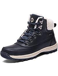 SIXSPACE Winterstiefel Warm Gefütterte Winterschuhe Outdoor Schneestiefel  Winter Boots für Herren Damen 7aa655b328